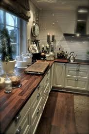 white country kitchen with butcher block. Full Size Of Countertops \u0026 Backsplash: White Subway Tile Backsplash Kitchen Accessories Beautiful Butcher Block Country With