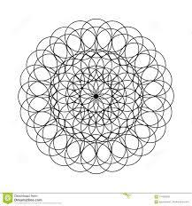 Mandala Fiore Dei Cerchi Per Il Libro Da Colorare Illustrazione
