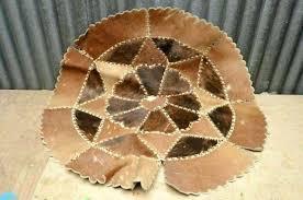 round cowhide rug vintage cowhide rug brown skin carpet leather round star flower patchwork hide silver round cowhide rug