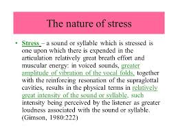 Word Of Nature Stress Stress Within A Word The Nature Of Stress Levels Of Stress