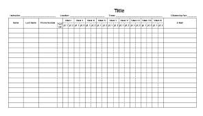 Weekly Attendance Register Template Free Attendance Sheet Tagesspartipp Com