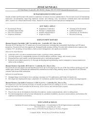 Hr Resume Example Hr Resume Examples Human Resource Resume Format Hr