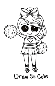 Draw So Cute Cheerleader Tipsy Scribbles A Picture Says A