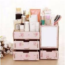 phoebe s wooden diy make up organizer box pink fl