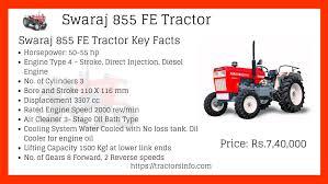 Swaraj 855 Tractors Price In India Specifications Features