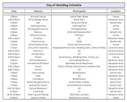 wedding reception agenda template wedding reception agenda template ideas program flow for sample
