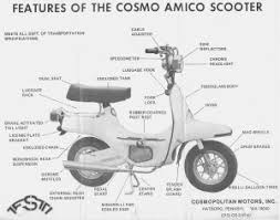 parts  myrons mopeds info cosmo amico scooter