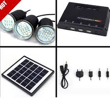 solar panel lighting kit home dc system usb solar charger with 3 led light bulb emergency lamp charge mobile phone power bank in solar lamps from lights