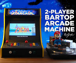 Raspberry Pi Game Cabinet 2 Player Bartop Arcade Machine Powered By Pi Plays Arcade