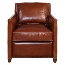 albany cognac leather club chair new