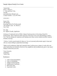 Ideas Of Sample Cover Letter For Adjunct Teaching Position Job And
