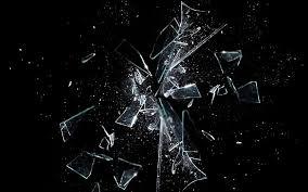 dark black background glass shatter