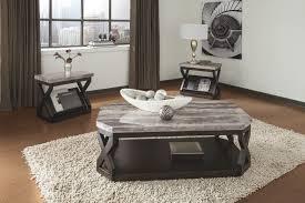 brown coffee table set ashley radylin faux marble top three piece main image modern glass dark