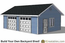 20x28 garage plans with single door