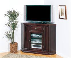 tall corner tv cabinet with glass and wood doors plus drawer superb designs ideas of