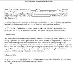 Sample of job appointment letter for new employees. Sample Of Letter Of Employment Contract Basis Letter Of Employment Letter Sample Employment