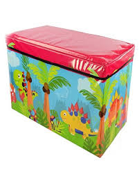 funkys dinosaur kids childrens large storage toy box boys girls books chest