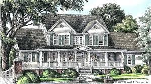 farmhouse house plans big back porch