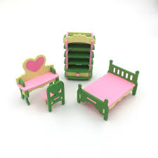 mini furniture sets. Wooden Mini Furniture Set Kids Play Toy Cabinet Desk Chair Bed Dollhouse Bedroom Furnitures Playing House Game Toy-in Kitchen Toys From \u0026 Hobbies On Sets