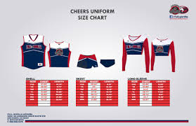 Cheers Uniform Size Chart Full Gorilla Apparel
