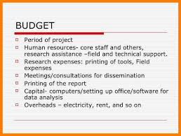 8+ Budget For Research Proposal | Weekly Template
