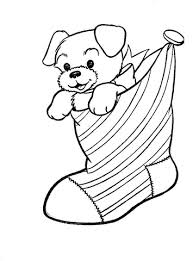 Small Picture A Puppy Dog In A Christmas Stocking coloring page Free Printable