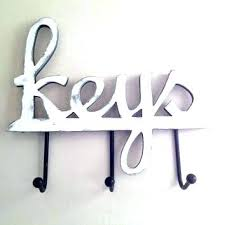 wall key holder decorative hooks holders home decor housewares hanging with mirror wall key