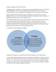 Compare And Contrast Andragogy To Pedagogy Explain What Is