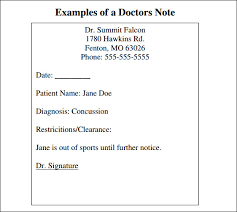 Best Photos Of Doctor Note Template Pdf Doctor Excuse Note
