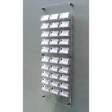 30 bay wall mount business card holder
