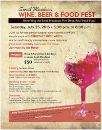 Update Swall Meadows Wine Beer And Food Fest Sold Out Sierra