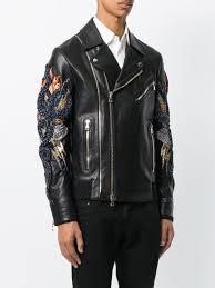 hot mens clothing balmain snake embellished leather jacket 176 w7h2066s021 larger image