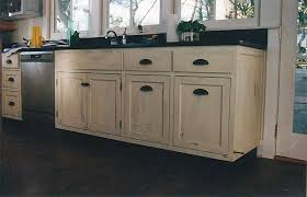distress painting kitchen cabinets