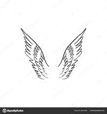 крылья ангела птица Pegasus силуэт элемент фэнтези иллюстрации