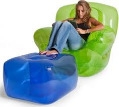 inflatable furniture. inflatable chair and ottoman furniture e