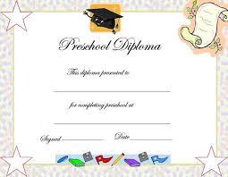Kindergarten Diploma Certificate Templates Cardiffbay Info