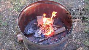 Fire Drum Designs Quick 55 Gallon Drum Fire Pit