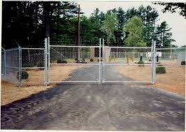 chain link fence double gate. Photo #33, 6\u0027 Chain Link Plus 1\u0027 Barb Wire And Double Swing Gate Fence