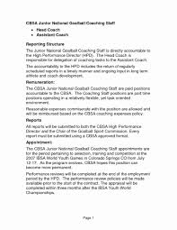 Assistant Coach Resume Samples Coaching Resume Samples For High School Inspirational Transform