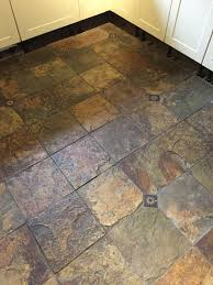 Slate Flooring For Kitchen Beautiful Coloured Slate Tiled Floor Cleaned And Sealed In A
