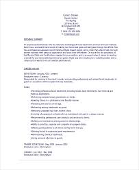Esthetician Resume Simple Esthetician Resume Template 28 Free Word Documents Download