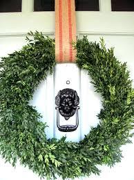 best way to hang a wreath on glass storm door artificial wreaths hanging