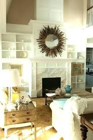 wall decor above fireplace wall decor over fireplace magnificent classical rectangle mirror mantel