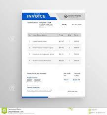 Modern Invoice Modern Blue Invoice Template Design Stock Vector Illustration Of
