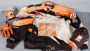 nascar tony stewart collection home depot incl jacket cap car glove