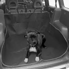 2in1 waterproof car rear back seat cover pet dog protector boot mat liner black