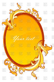 oval mirror frame. Oval Mirror Frame Decorated With Vintage Ornament Royalty Free Vector Clip Art