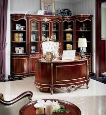 classic office desk. French Baroque Style Luxury Executive Office Desk, European Classic Wood Carving Writing Table, Antique Desk E