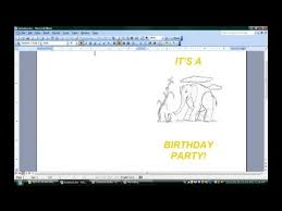 how to create a birthday card on microsoft word how to make folded invitations with microsoft word microsoft