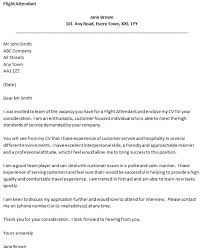 Cover Letter Examples For Flight Attendant Job Resume Examples